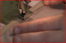 Inserting a concealed zipper